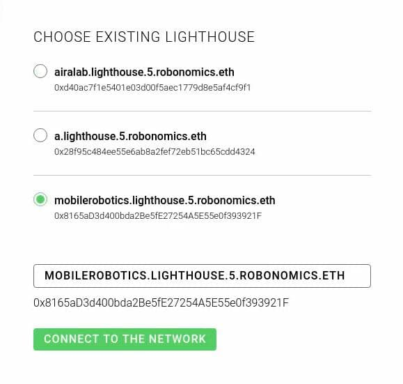 Selecting the Lighthouse